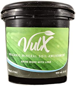 Vulx Volcanic Mineral Soil Amendment - Grow More with Less Fertilizer and Water