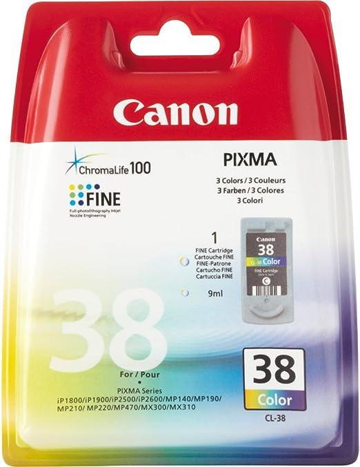 Canon Tintenpatrone Cl 38 Farbtinte C M Y 9 Ml Original Für Tintenstrahldrucker Bürobedarf Schreibwaren