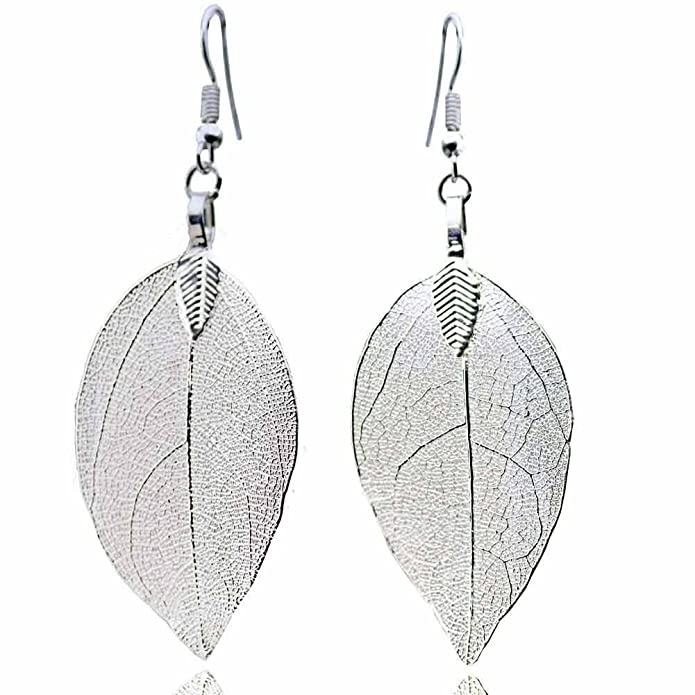 d3920327a Amazon.com: ZSE Jewelry Leaf Earring Vintage Golden Bohemian Pure Natural  Leaf Charm Drop Earrings for Women: Jewelry