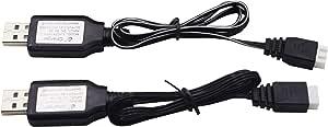 RC Car USB Adaptador de Corriente Cable Cargador 144001 1//14 Cuatro Ruedas Tracci/ón Aleaci/ón RC Car Accesorio T best Cargador USB 144001-1374