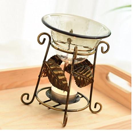 ZMINGM Aceites Esenciales Aromaterapia Hierro Velas Lámparas de Fragancia Aroma Vintage Estufa Estufa Lámpara de Aceite