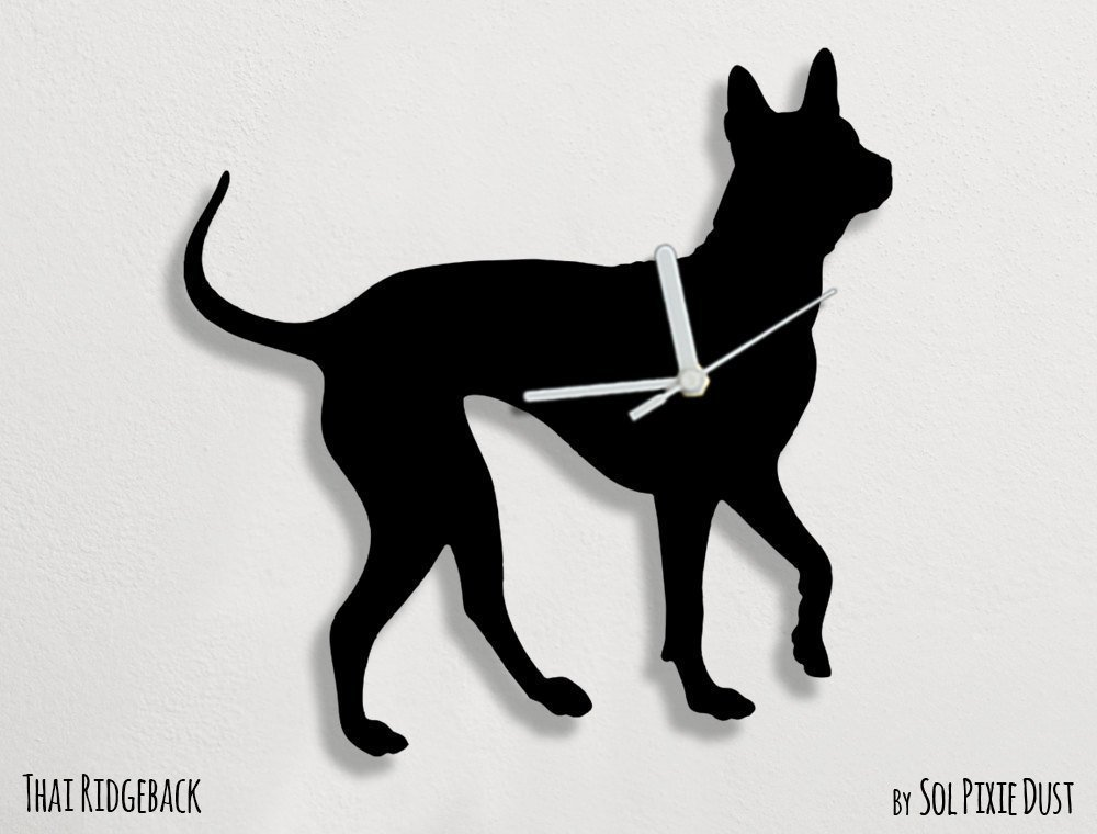 Thai Ridgeback Dog - Wall Clock by Sol Pixie Dust