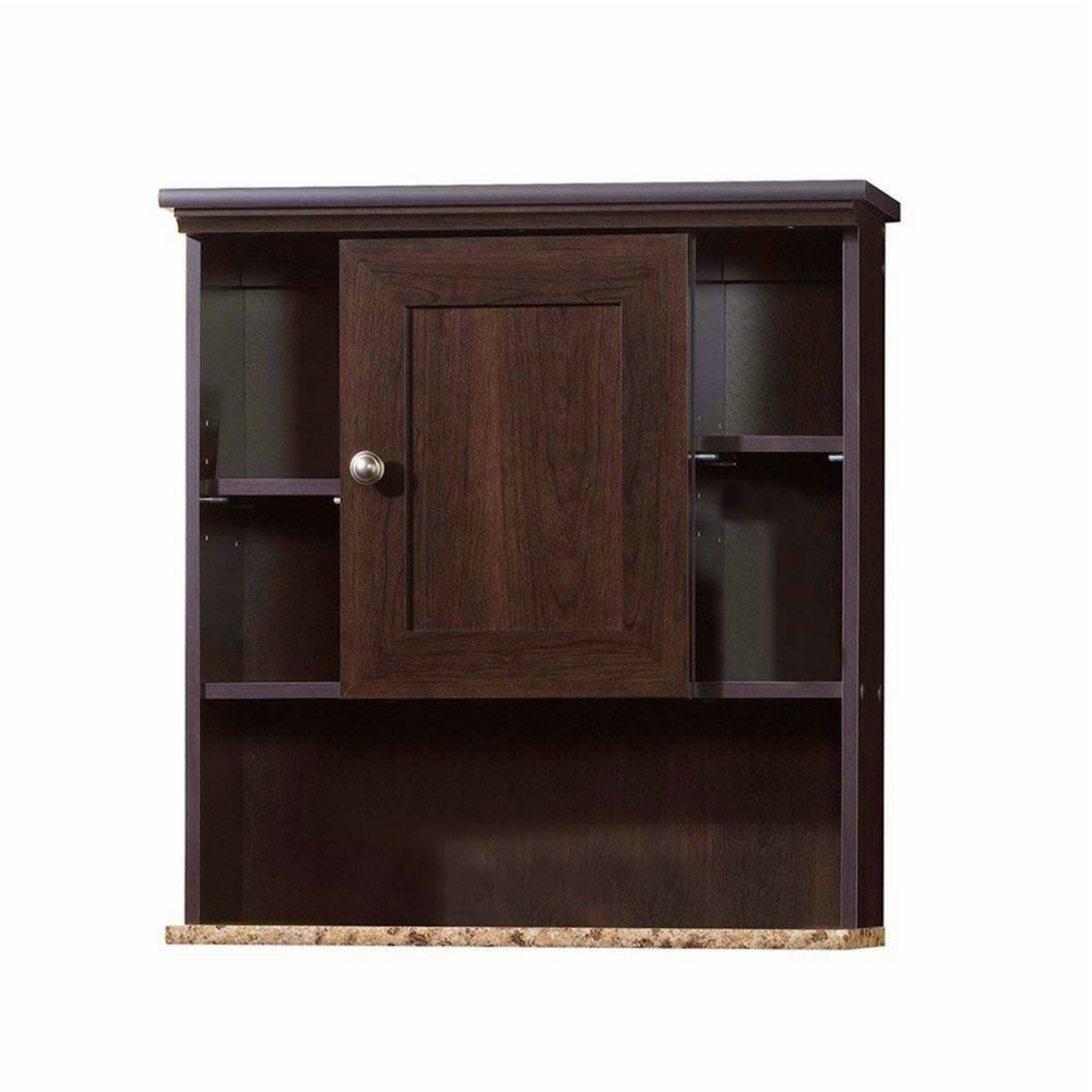 Bathroom Medicine Wall Cabinet Organizer 2 Adjustable Shelves Cubbyholes Door Wood and Faux Granite Bathroom Storage Organizer Great Addition to Small Spaces Contemporary Design & e Book by BADA shop