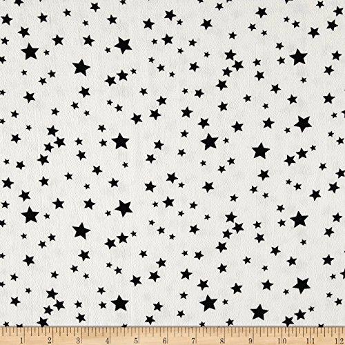 Fabric Bubble Crepe Starburst Ivory/Black Yard (Ivory Starburst)
