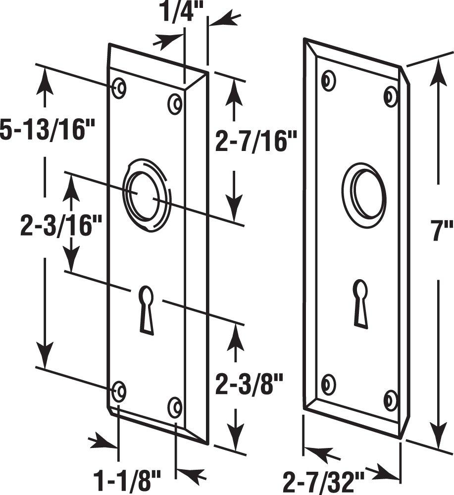 Amazon.com: Defender Security E 2295 Vintage Door Escutcheon Trim Plates,  2 1/4u201d X 7u201d., Brass Plated Steel: Home Improvement