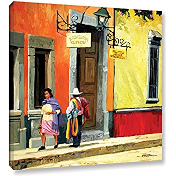 Art Wall Streets of Mexico Gallery Wrapped Canvas Art by Rick Kersten, 36 by 36-Inch