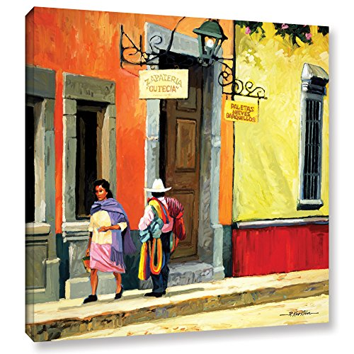 ArtWall Streets of Mexico Gallery Wrapped Canvas Art by Rick Kersten, 24 by 24-Inch