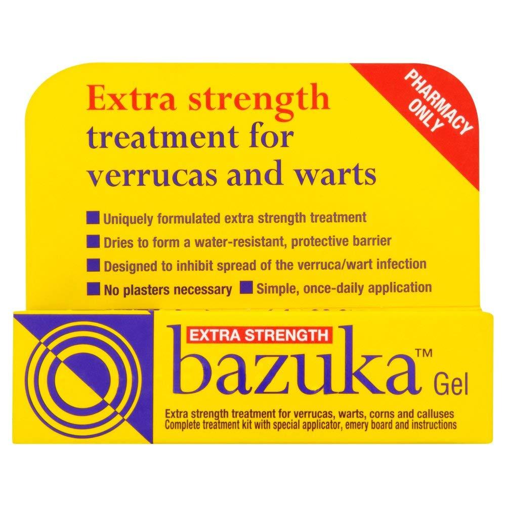 Bazuka Extra Strength Verruca and Wart Remover Gel 5g