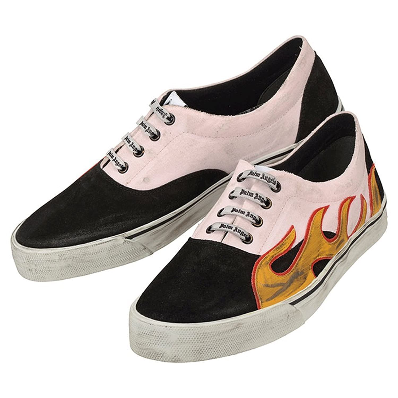 【パームエンジェルス】 Palm Angels Distressed Sneaker Flame PMIA019S18291002 8888 ピンク ブラック ディストレスト フレイム スニーカー メンズ 【並行輸入品】 B07DK7ZTKY