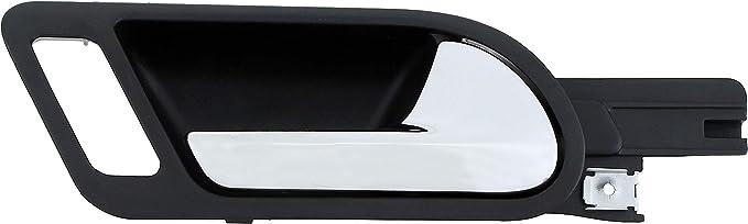 Chrome and Black Dorman 96570 Rear Passenger Side Interior Door Handle for Select Volkswagen Models