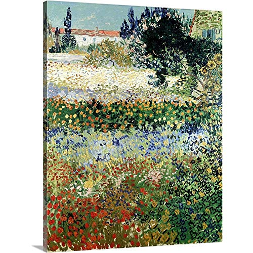 Vincent Van Gogh Premium Thick Wrap Canvas Wall Art Print Entitled Garden In Bloom  Arles  1888 16 X20
