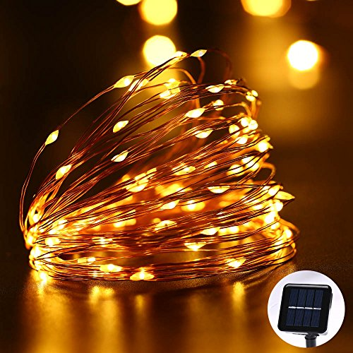 String Lights Za : LUCKLED Outdoor Solar Powered String Lights, 33ft 100 LED Warm - Import It All
