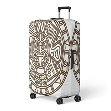 Aztec Pattern Travel Luggage Cover Suitcase Protector Washable Zipper Baggage Cover