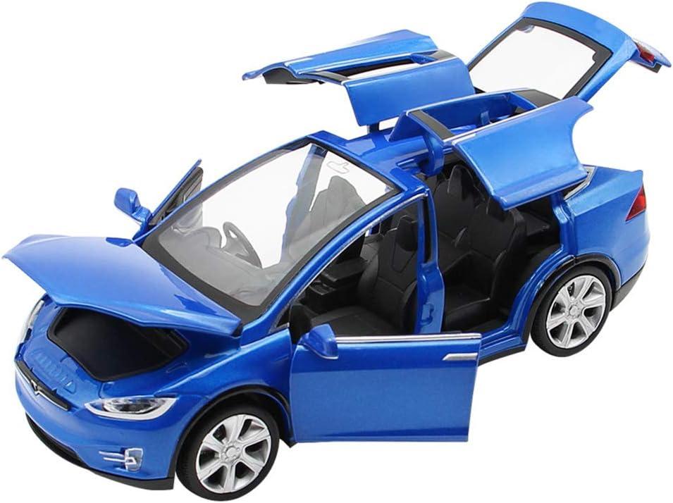 Comtervi - Coche de juguete de aleación, con sonido y luz, escala 1:32 a