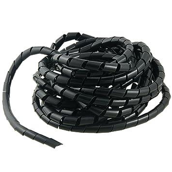 sourcingmap/® PC 8M 26.2 Ft PE Kabelspirale Kabelschlauch Spiralband Schutz Schlauch 12mm de