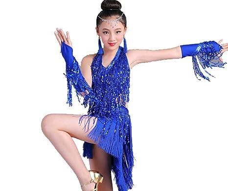 ZYLL Vestido de Baile Latino para niños, Vestido de Baile Latino ...