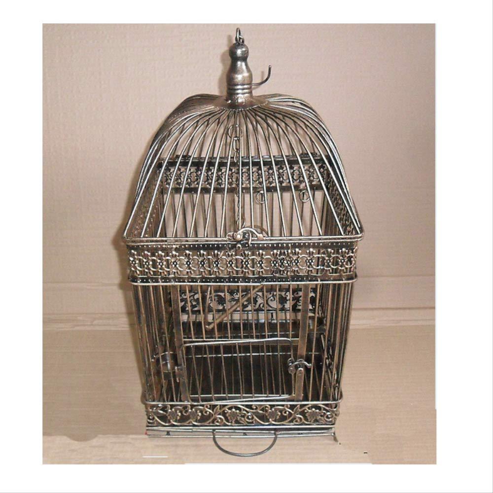 Yorkmoon Birdcage Iron Home decoración apoyos pájaro Jaula W28cm ...