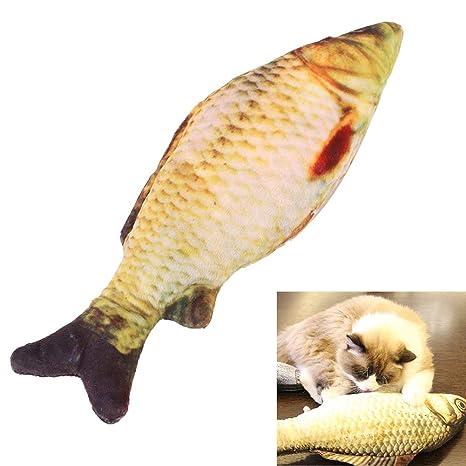 EBTOOLS Juguete de pez Gato, simulación de Hierba gatera, Juguete de Peluche para Jugar