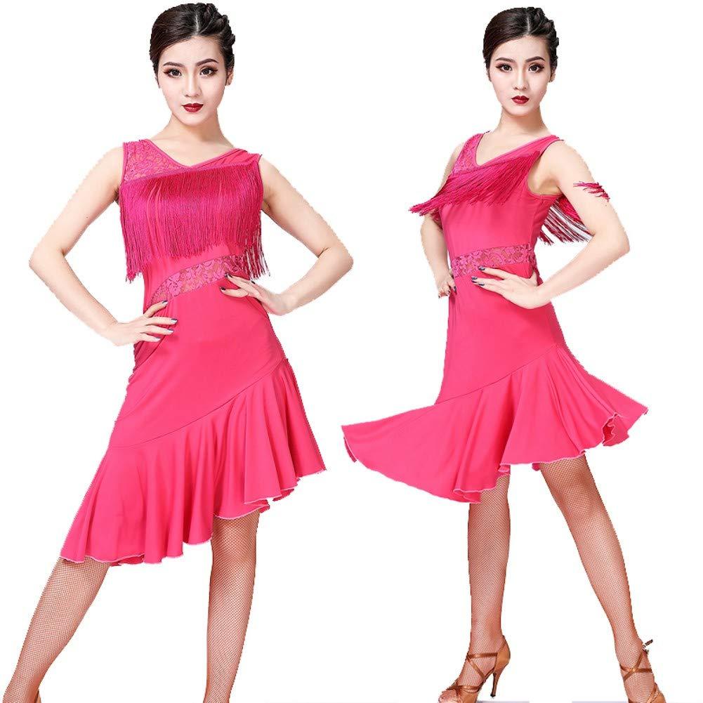 Sports Et Loisirs Robes Ruibuy Robe Danse Latine Femme Avec Frange Salsa Rumba Zumba Paso Doble Cha Cha Cha M L Xl Rouge Bleue Noir Voilet
