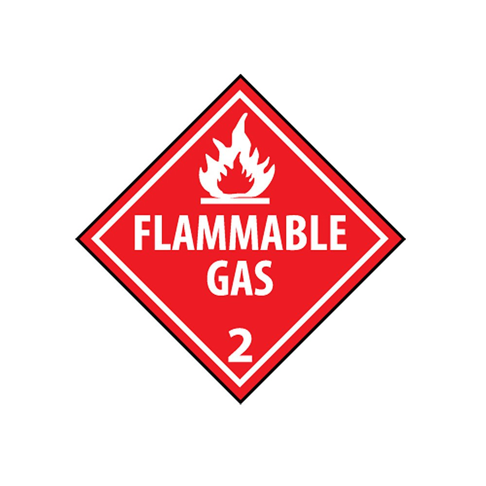 NMC DL48UV25 Spontaneously Combustible 4 Dot Placard Sign National Marker Company