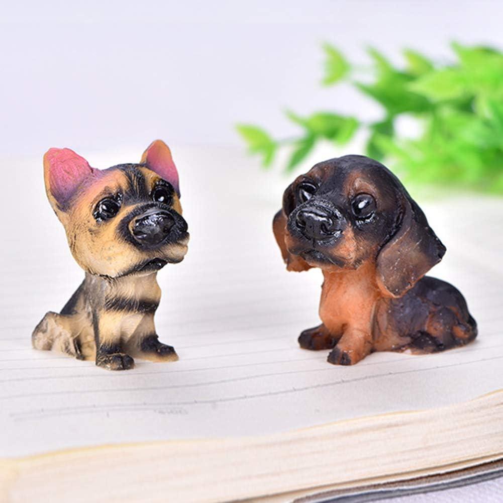 Miniature Figurines 4Pcs Cat Dog Pet Micro-Landscape Resin Ornament DIY Garden Succulents Decoration for DIY Fairy Garden Dollhouse Decoration A QuyWin Miniature Ornaments