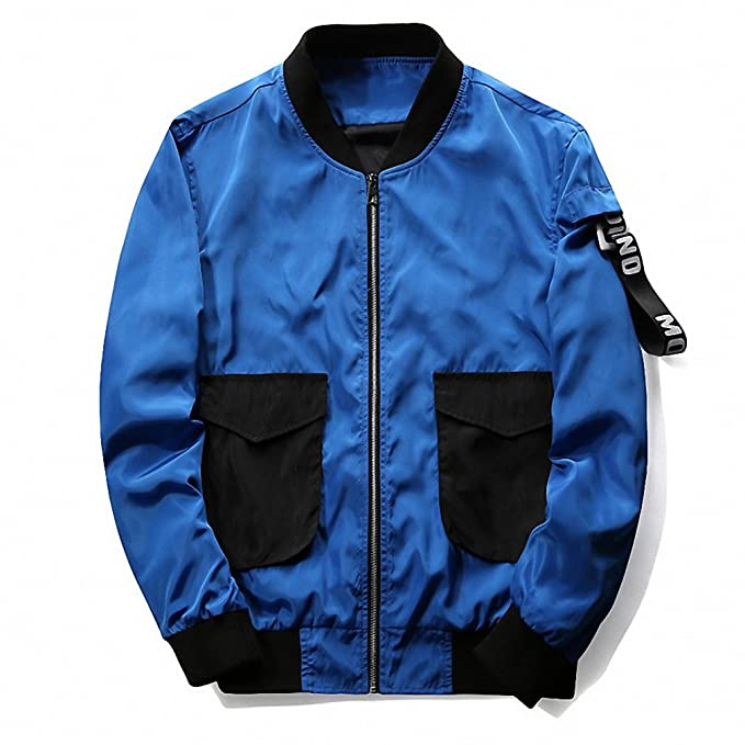 Mens Bomber Jackets Men NEW Spring Autumn Windbreaker Pilot Coat Casual Baseball Jacket at Amazon Mens Clothing store: