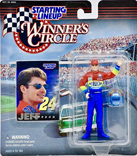 1997 - Kenner/NASCAR - Starting Lineup/Winner's Circle - Jeff Gordon Action Figure w/Trading Card - Collectible - Rare