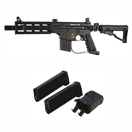 Amazon Com Us Army Project Salvo Paintball Gun W Mag Fed Adapter