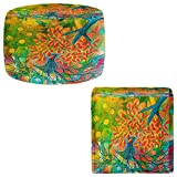 Foot Stools Poufs Chairs Round or Square from DiaNoche Designs by Kim Ellery - Everything is Rooted in Love