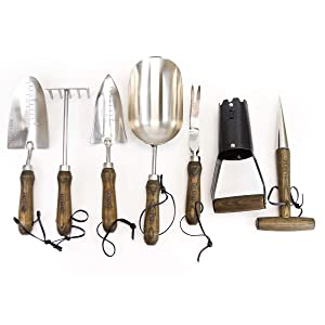 Burpee Complete Garden Tool Set | Durable Long Lasting | Leather Wrist Strap, 5 to 10 Year Warranty
