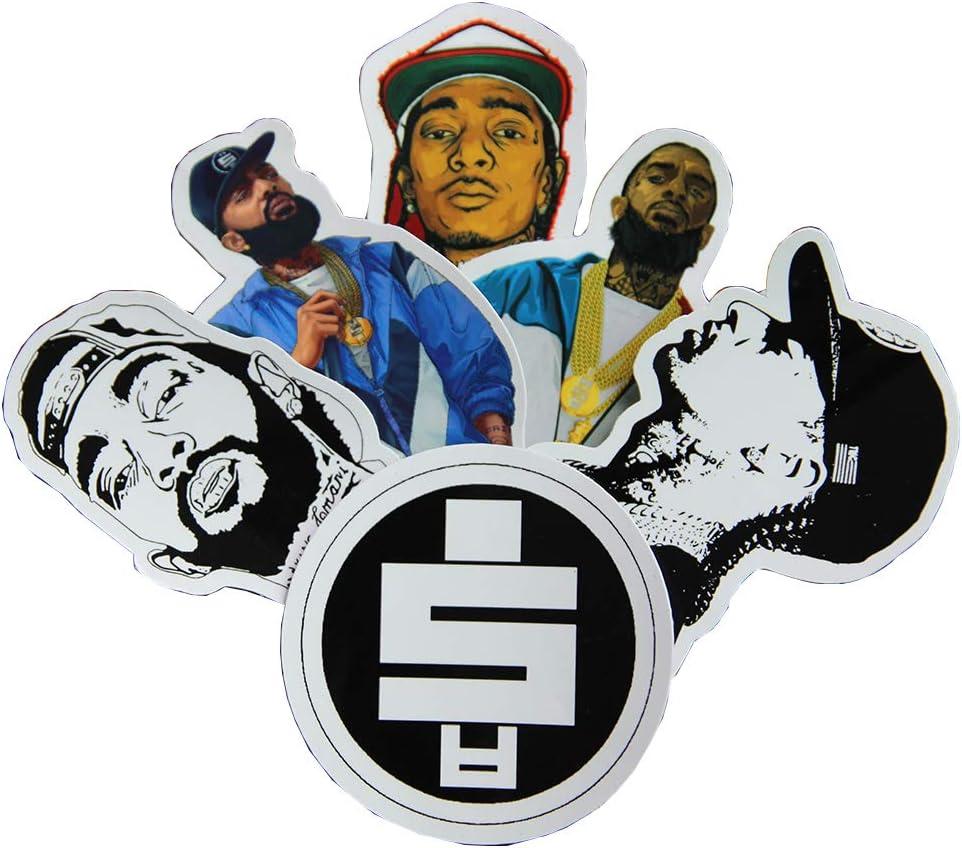 6pcs Nipsey Hussle Printed Vinyl Sticker Decal Memorial