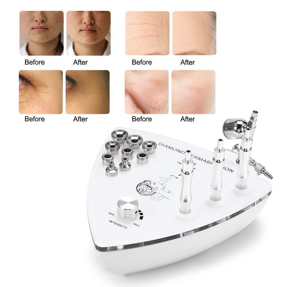 Diamond Skin rejuvenation Machine, Water Moisturizing Oxygen Spray Gun with 9 Diamond Heads/9 Intensity Gears for Dead Skin/Acne Blackhead Removal, Anti Wrinkle