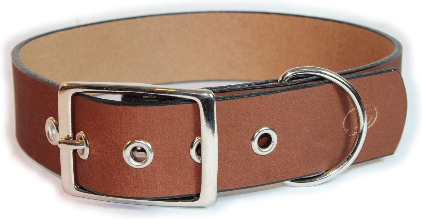 "Big Dog 1.5/"" Leather Dog Collar"