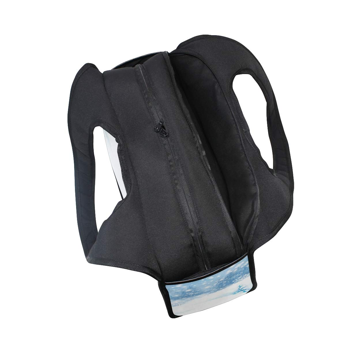 Snow Scene Women Sports Gym Totes Bag Multi-Function Nylon Travel Shoulder Bag