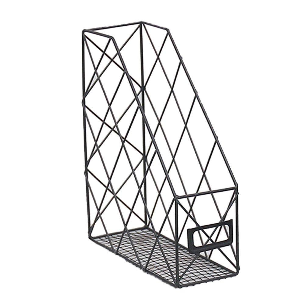 KATURN filo di ferro metallo portariviste Paper file desktop file organizer portaoggetti scaffale per ufficio, casa, scuola (nero)