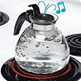 12 Cup Glass Whistling Kettle for Gas & Electric Stoves Budget Priced