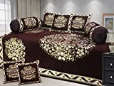 Ab Home Decor Floral Design Chenille Fabric Coffee Diwan set,Set of 8