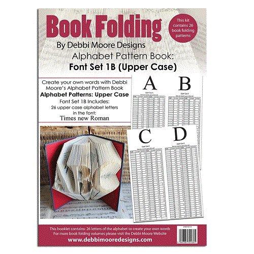 Debbi Moore Book Folding Pattern Book Alphabet Font Set 1B (Upper Case) Debbi Moore Designs