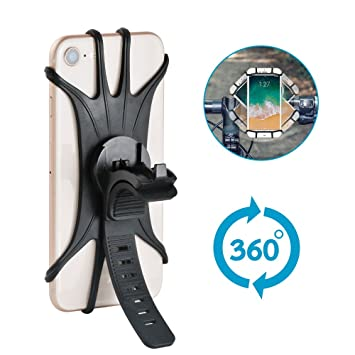 Stanbow Soporte Movil Bicicleta, Soporte de Bicicleta Soporte para movil teléfono de Anti Vibración con Rotación 360 para Teléfonos Inteligentes Otros ...