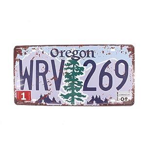 6x12 Inches Vintage Feel Rustic Home,bathroom and Bar Wall Decor Car Vehicle License Plate Souvenir Metal Tin Sign Plaque (OREGON WRV 269)