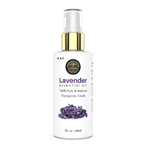 Lavender Essential Oil 2oz - 100% Undiluted Pure USDA Organic Therapeutic Grade- Promote Peaceful Sleep, Relaxation, Tension Relief- For Diffuser & Topical Use, Spray Pump, No mess