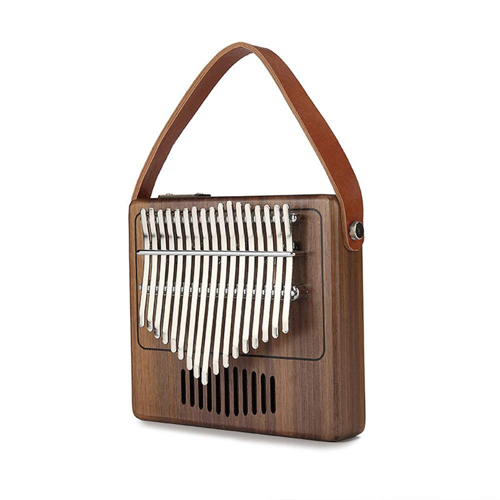 KOUPA Kalimba 17 Keys Thumb Piano-in EVA high-Performance Protective Box with Study Instruction and Tune Hammer and Handle,for Kids Adult Beginners Professional by KOUPA