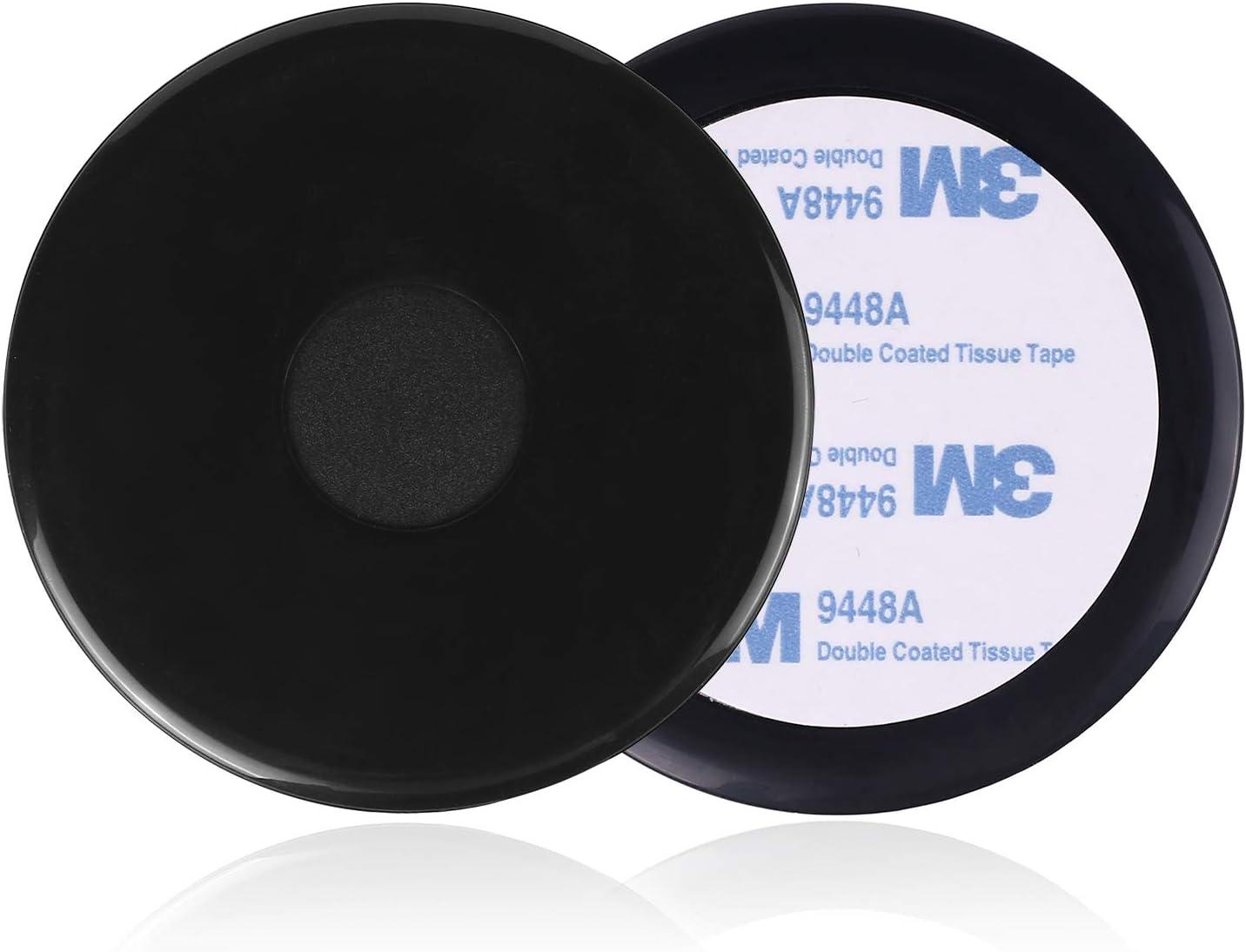 Yianerm - Disco de Montaje para salpicadero con Adhesivo 3M para salpicadero de salpicadero, Montaje GPS, Soporte para teléfono de Coche (2 Unidades, 75 mm)