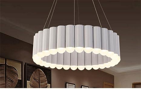 5151BuyWorld Lámpara Colgante De Luces LED Modernas Suspensión De Tubo Lámpara De Suspensión De Círculo LED