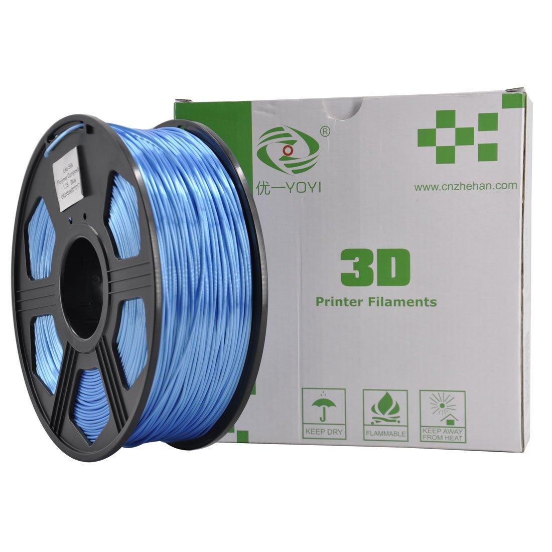 0.03 mm // YOYI 3D Printer Filament Silk PLA 1.75mm,Dimensional Accuracy 1kg Spool,100/% Virgin Raw Material,Blue