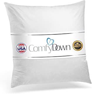 product image for ComfyDown 95% Feather 5% Down, 19 X 19 Square Decorative Pillow Insert, Sham Stuffer - Made in USA