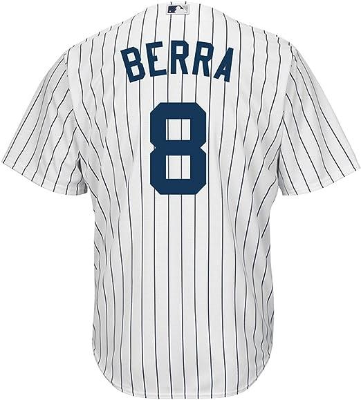 Majestic Yogi Berra New York Yankees Cool Base MLB Camiseta Home: Amazon.es: Deportes y aire libre