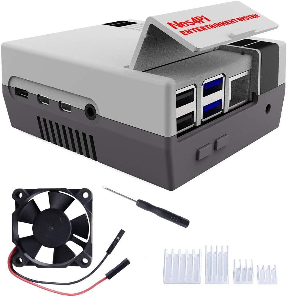 Makerfun Retro Gaming Nes4pi Gehäuse Für Raspberry Pi 4 Computer Zubehör