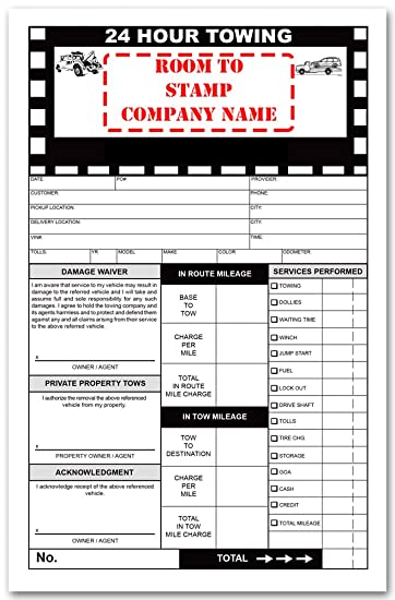 custom road service towing invoice