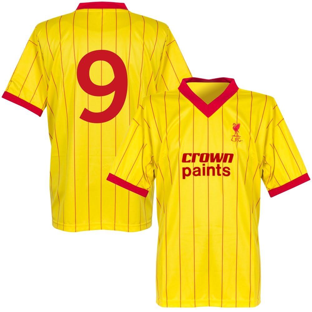 Lizensierter Clubartikel 1982 Liverpool Away Retro Trikot + No9